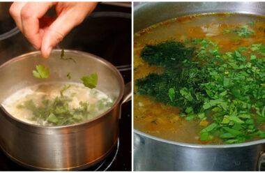 Як зберегти колір зелені в перших стравах. Корисна порада для господині.