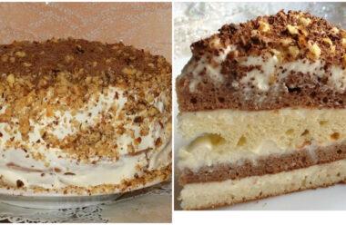 Ніжний та смачний торт «Сметанник». Простий рецепт приготування.