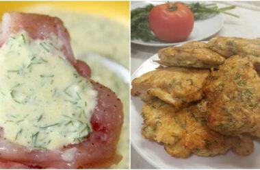 Курячі відбивні з сиром та зеленню. М'ясо виходить ніжне та соковите.