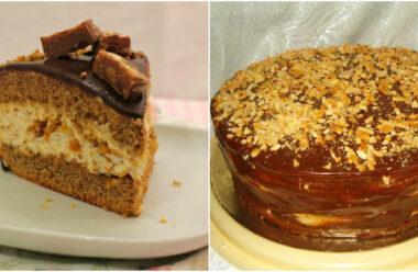 Рецепт смачного торта «Снікерс», який можна легко приготувати вдома.