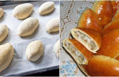 Смачні домашні пиріжки за легким рецептом, які  довго не черствіють